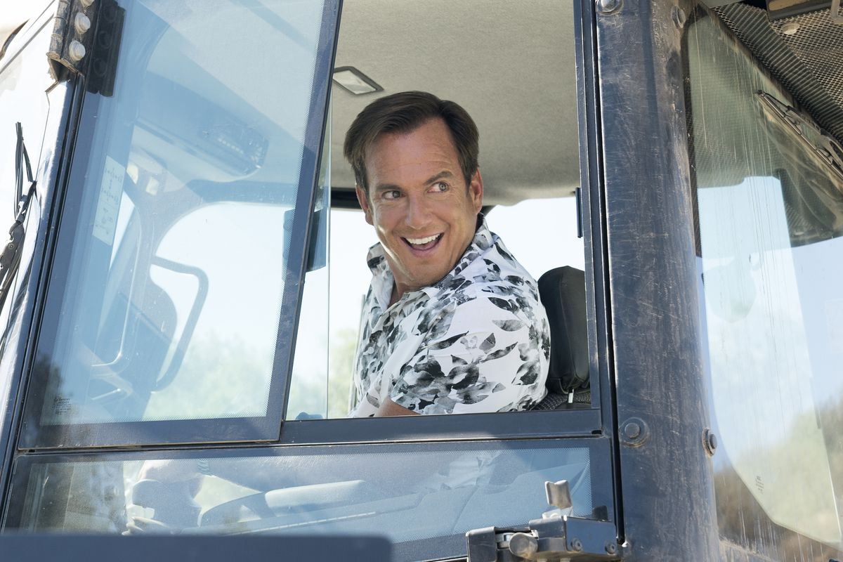 Arrested Development - Gob smiling as he looks out of a truck