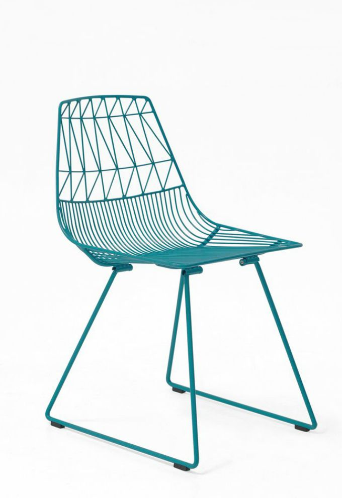 Bend Lucy Side Chair in Peacock Blue