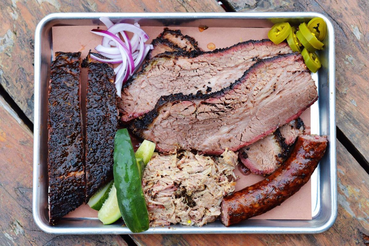 A tray of barbecue from Freedmen's