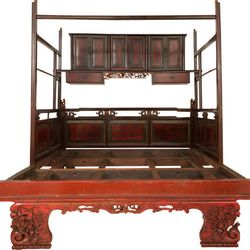 Courteney Cox's antique ceremonial Chinese bed