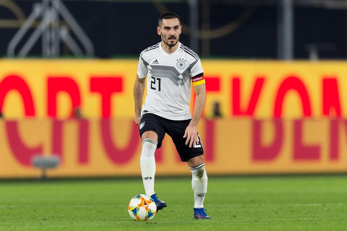 WOLFSBURG, GERMANY - MARCH 20: Ilkay Guendogan of Germany controls the ball during the International Friendly match between Germany and Serbia at Volkswagen Arena on March 20, 2019 in Wolfsburg, Germany.