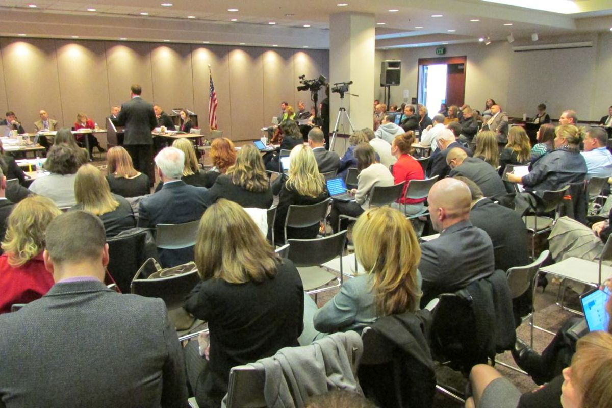 The Indiana State Board of Education first learned about the longer ISTEP exam at its packed Feb. 4 meeting.