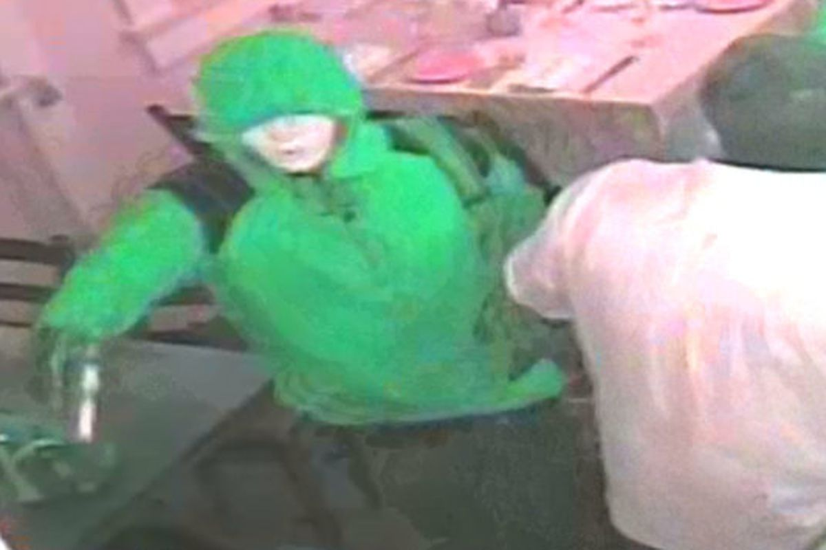 Surveillance footage of the armed robbery at Patois.