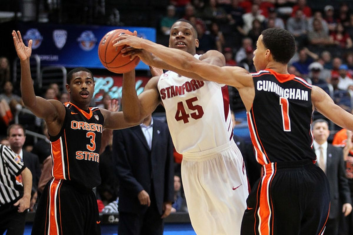 Jeremy Green failed to get off a shot in the final seconds of Stanford's 69-67 loss to Oregon State last night.
