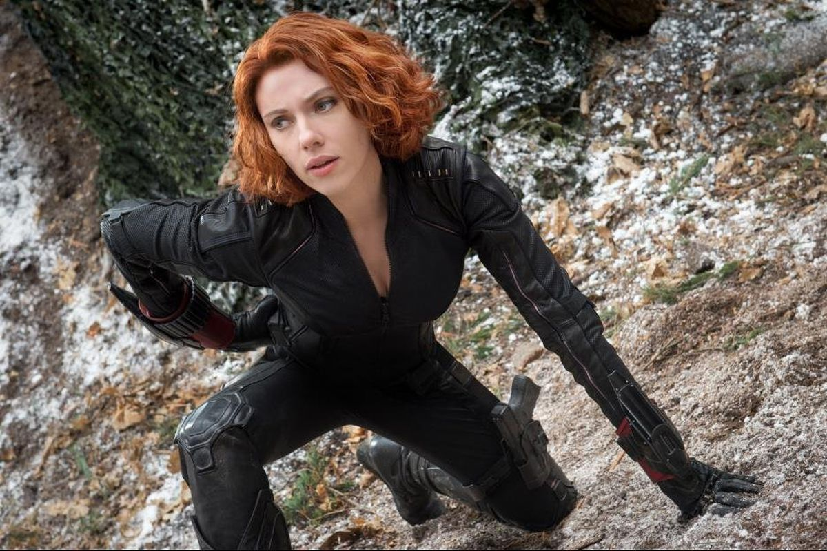 A still of Black Widow from the Avengers: Age of Ultron movie