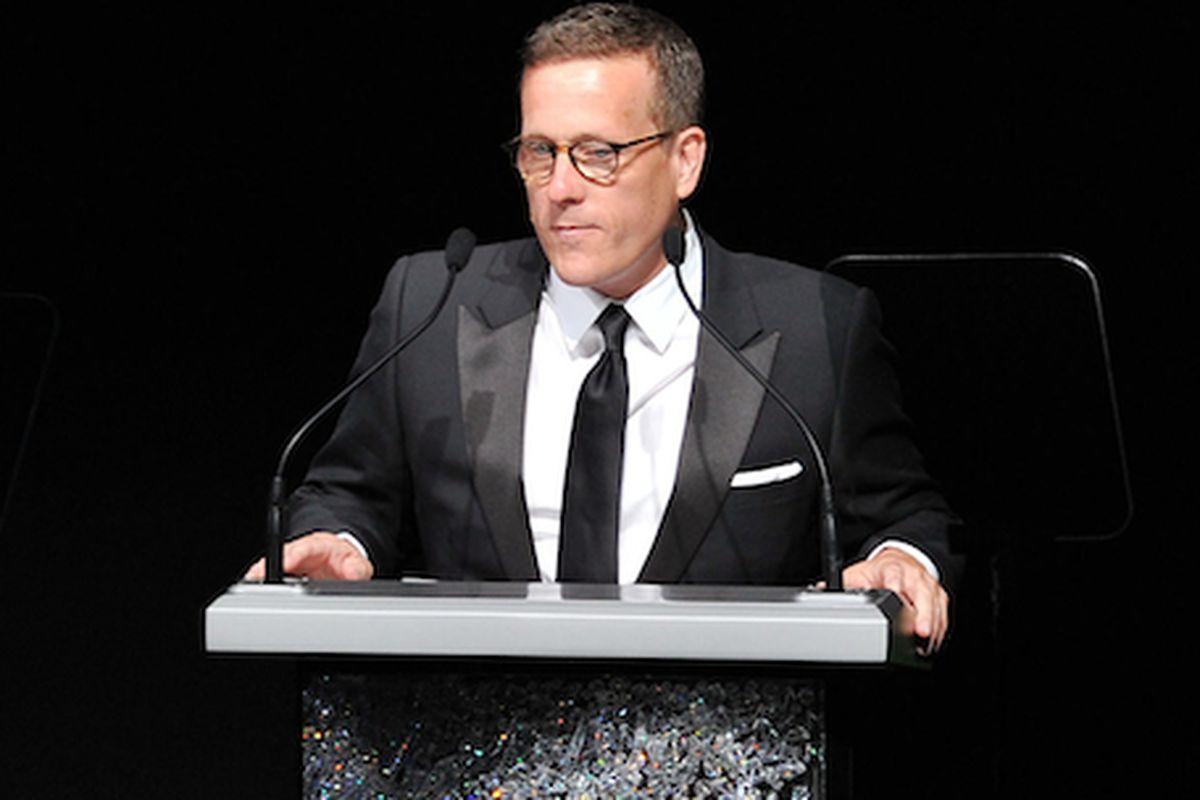 Scott speaking at CFDA Awards earlier this year. (Theo Wargo/Getty)
