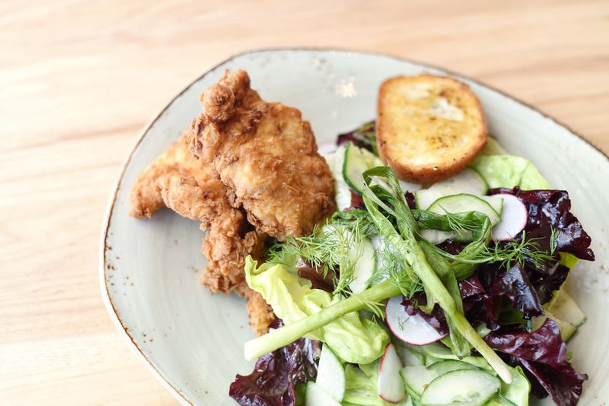 Southern fried chicken at Tender Greens