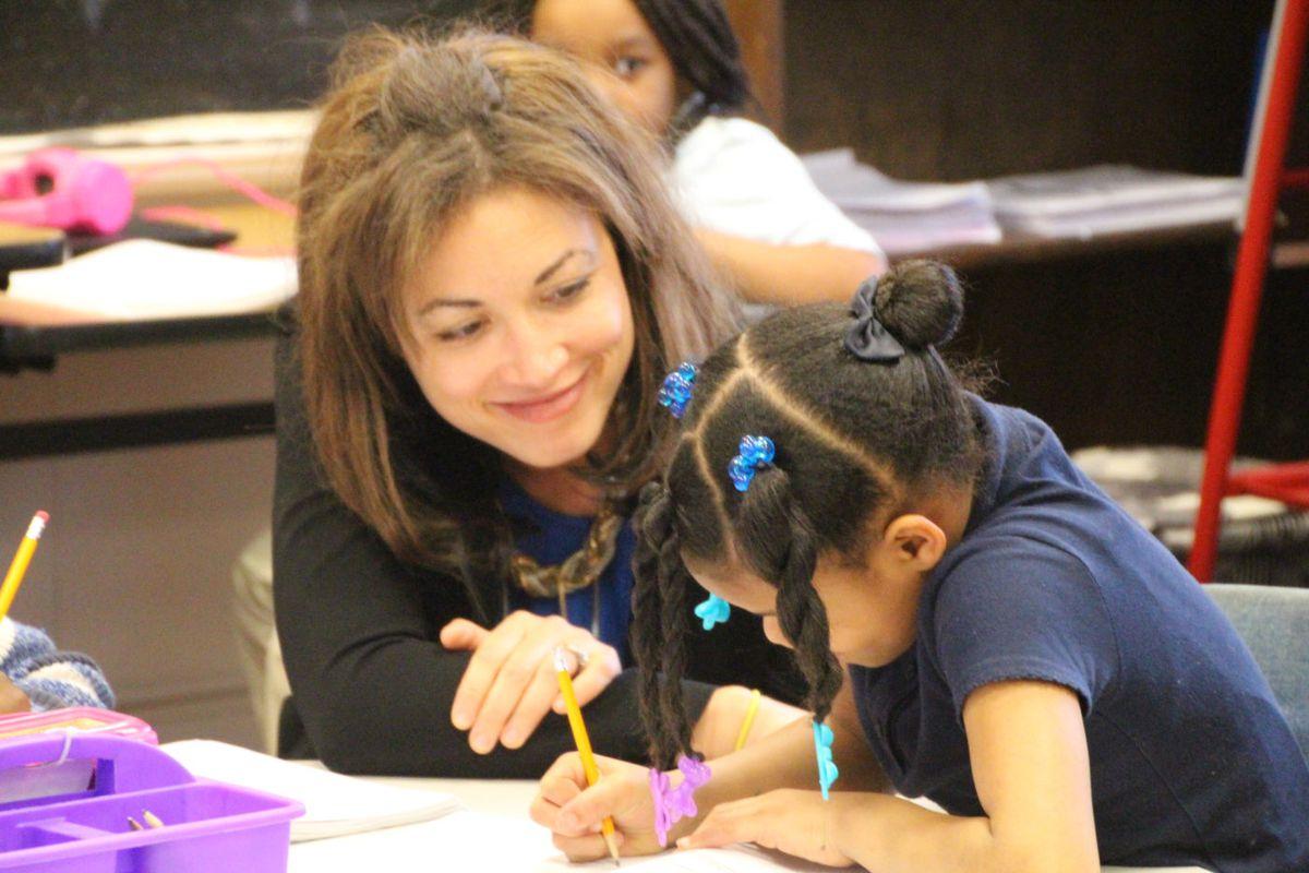 Penny Schwinn visits Georgian Hills Achievement Elementary School as part of her March 2019 tour of Memphis' state-run schools.