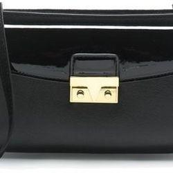 """J. Crew push-lock cross-body bag, <a href=""""https://www.jcrew.com/womens_category/handbags/crossbodybags/PRD~B2204/B2204.jsp?N=21+17+10050&Nbrd=J&Nloc=en_US&Nrpp=48&Npge=1&Nsrt=3&isSaleItem=true&color_name=BLACK&isFromSale=true&isNewSearch=true&hash=row1"""">"""