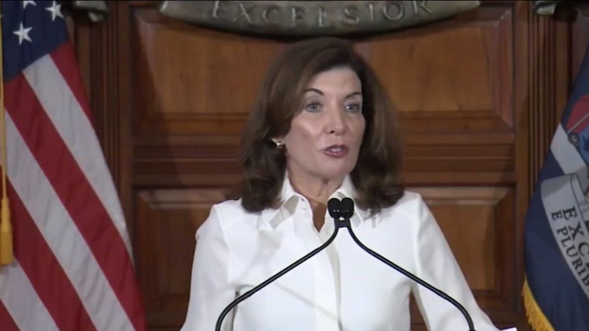 Gov. Kathy Hochul after her inauguration Tuesday.