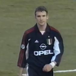 Andriy Shevchenko in the third kit for 1999/00.