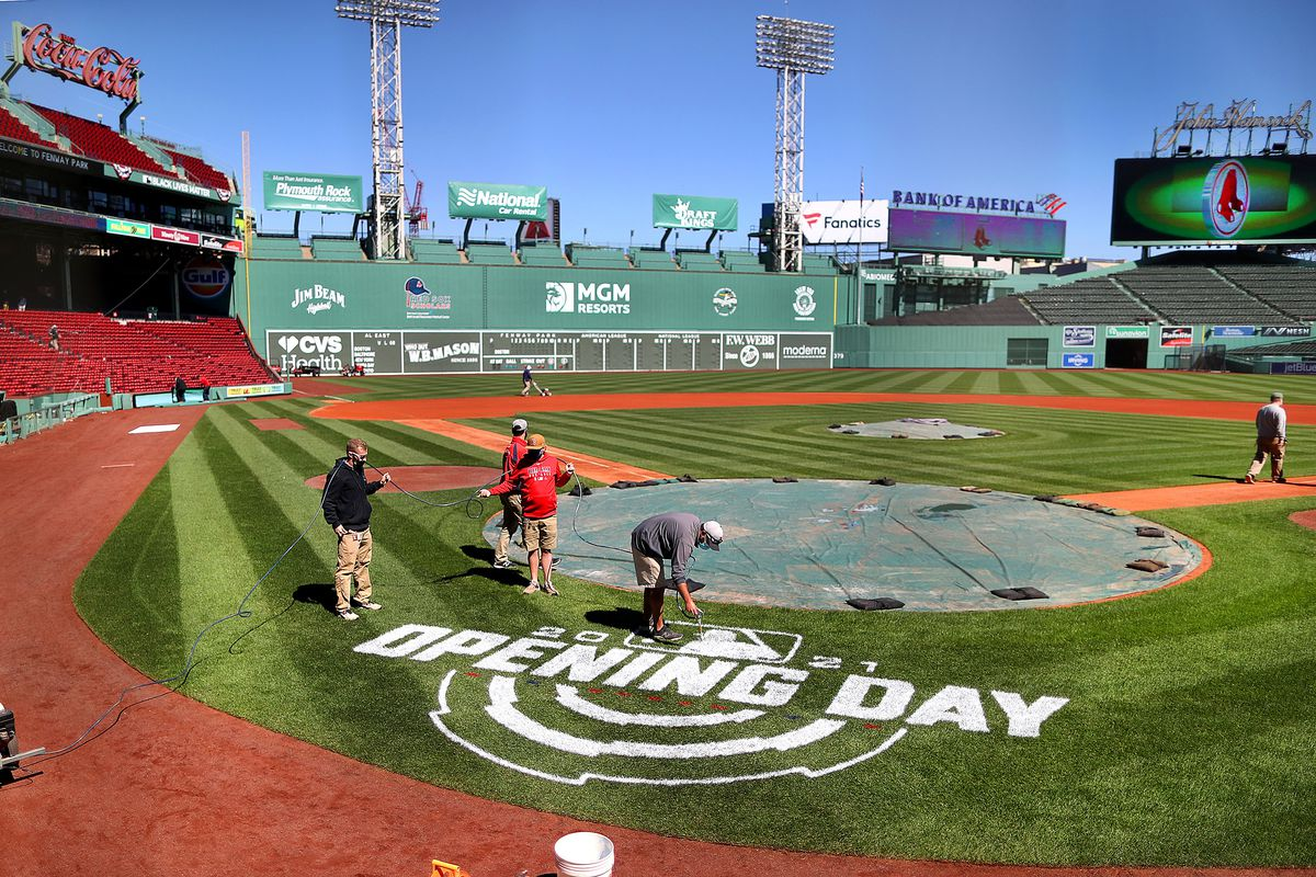 Fenway Park Readies For Opening Day