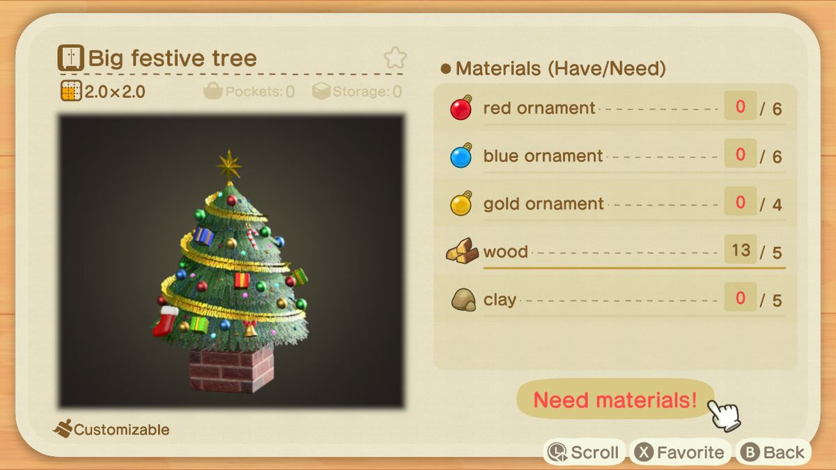 Animal Crossing New Horizons Festive Season Diy Recipe List Polygon