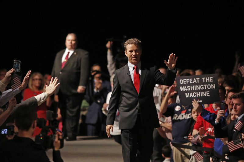 Rand Paul after announcing his presidential campaign on April 7, 2015, in Louisville, Kentucky. (Luke Sharrett/Getty Images)
