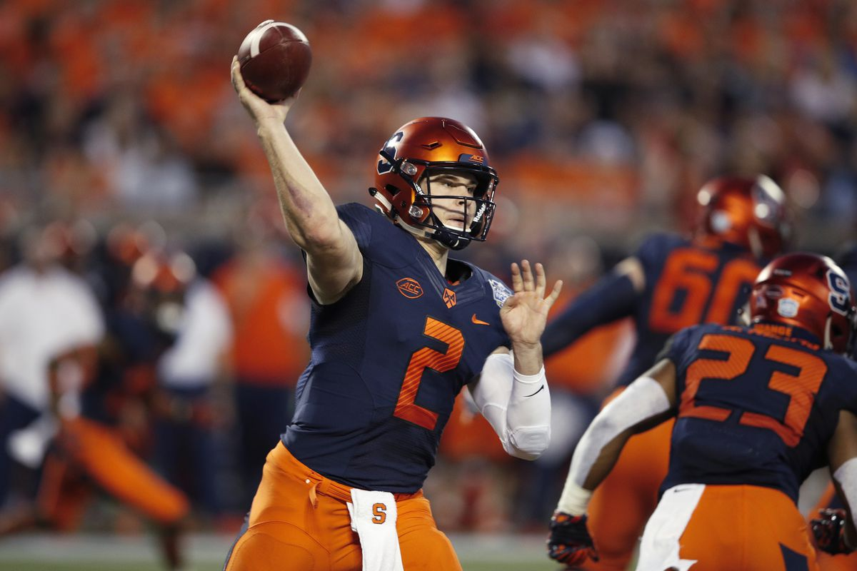 competitive price 818d3 83750 Syracuse 2019 NFL Draft profile: Scouting quarterback Eric ...