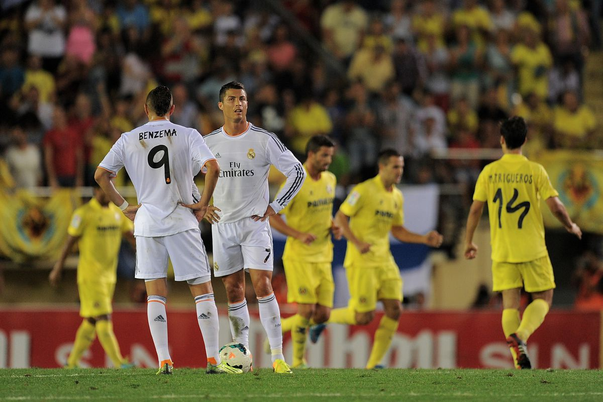 celebrating a Villarreal goal against Madrid--we hope for more of this Saturday