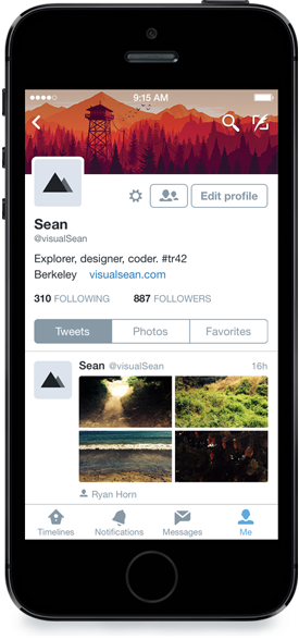 Twitter for iOS updated with redesigned profiles and