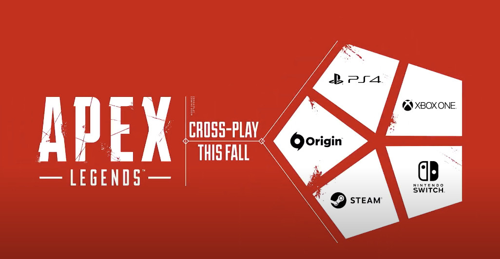 Showing all the platforms supported in crossplay for Apex Legends