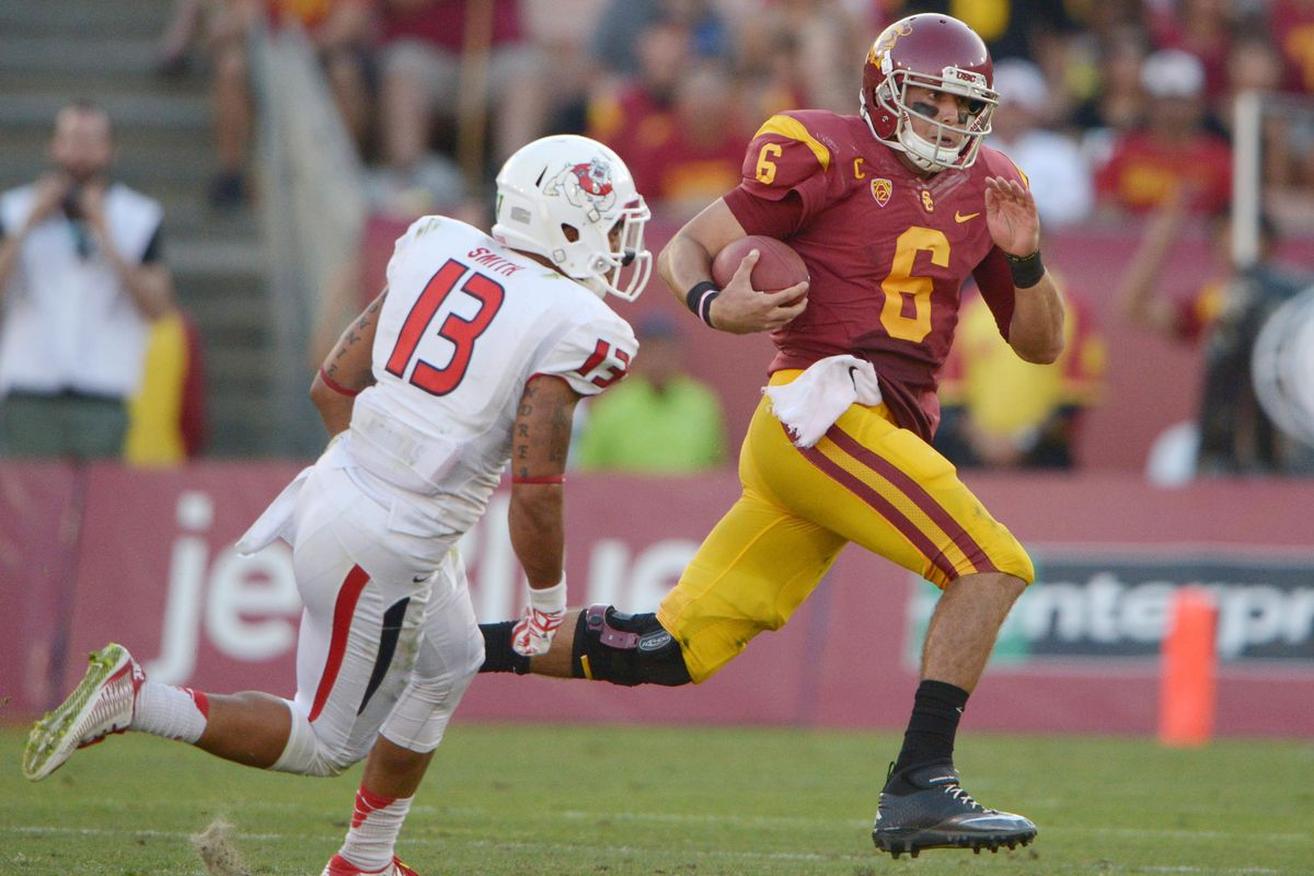 Cody Kessler's mobility could be affected.