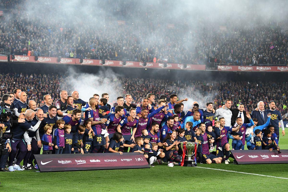 Image result for barca la liga champions