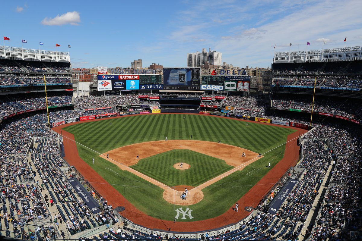 A general look at Yankee Stadium during a game between the New York Yankees and Minnesota Twins.