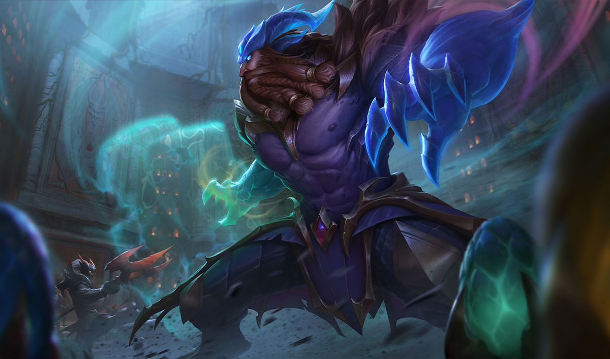 Dragon Oracle Udyr gets ready to take on some ominous shadowy bad guys.