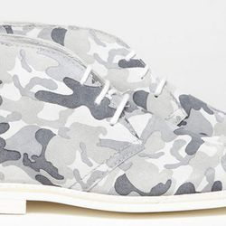 The Florentine in white camouflage print.