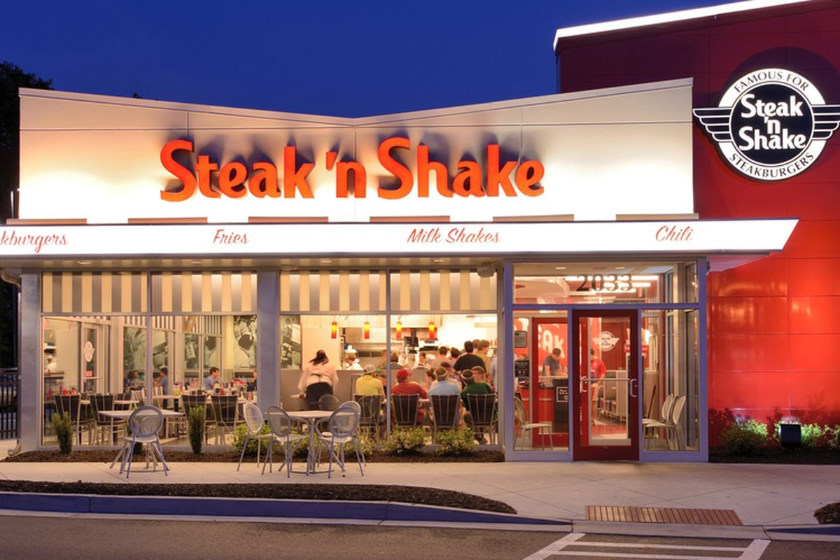 "Steak 'n Shake, a classic American brand, was founded in in Normal, Illinois by Gus Belt who pioneered the concept of premium burgers and milkshakes. For over 80 years, the company's name has been symbolic of its heritage. The word ""steak"" stood for steakburger. The term ""shake"" stood for hand-dipped milkshakes.4/10(23)."