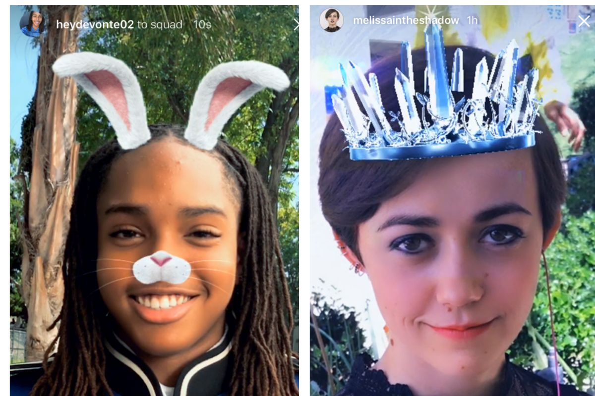 ee109c8361c0 Sorry, Snapchat, Instagram now has fun face filters, too - Vox