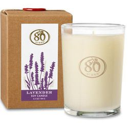 """<b>80 Acres</b> Lavender Soy Candle (Lavender, Ylang Ylang, Lemon, Lime) at <b>Hudson</b>, <a href=""""http://hudsonboston.com/collections/accessories/products/80-acres-100-soy-candle"""">$26</a>"""