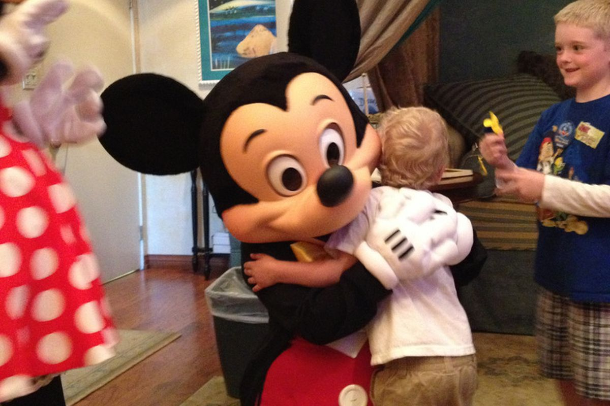 Trystian's Wish came true when he got to meet Mickey Mouse.