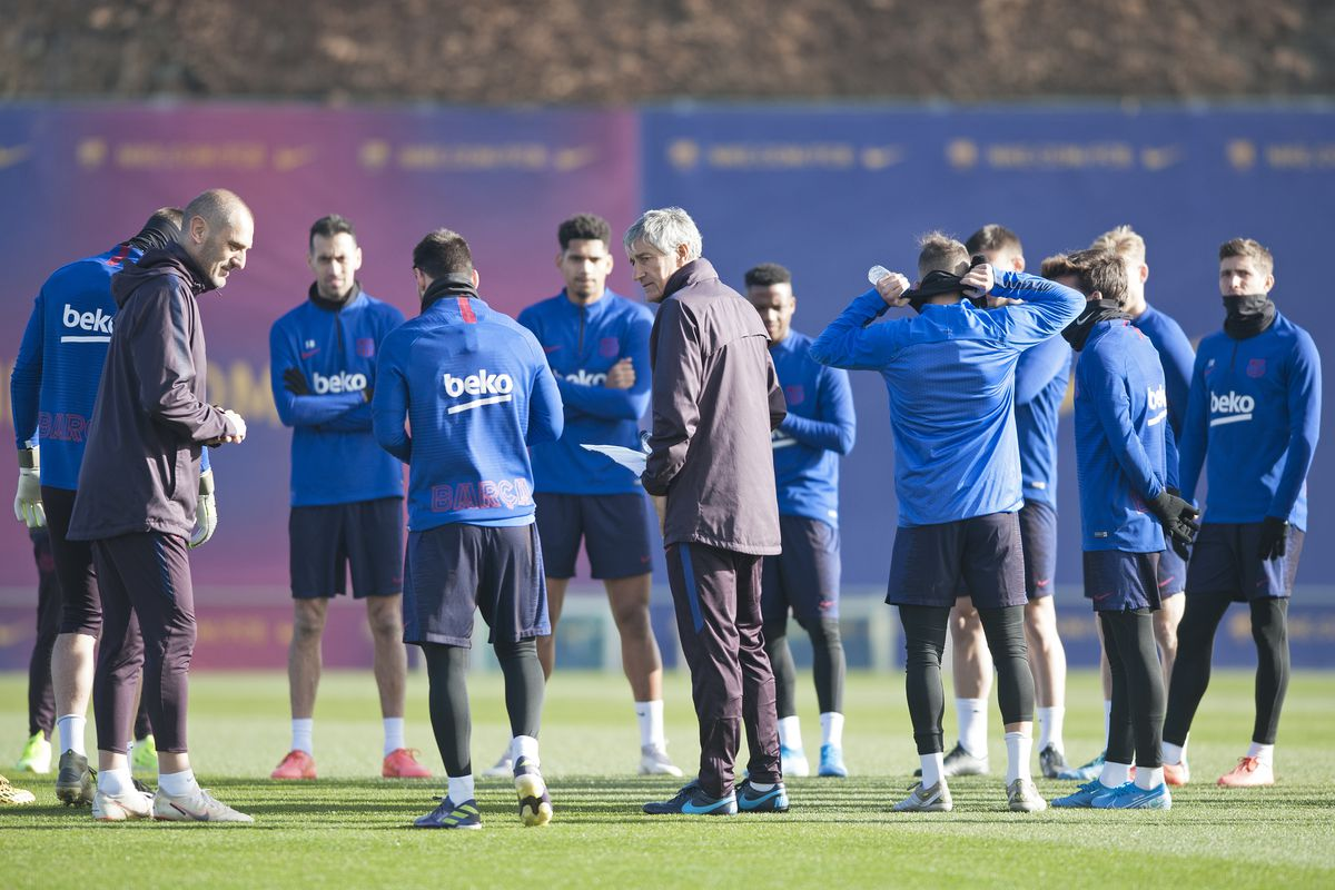 Quique Setien has Barcelona training in blindfolds ahead of Real ...
