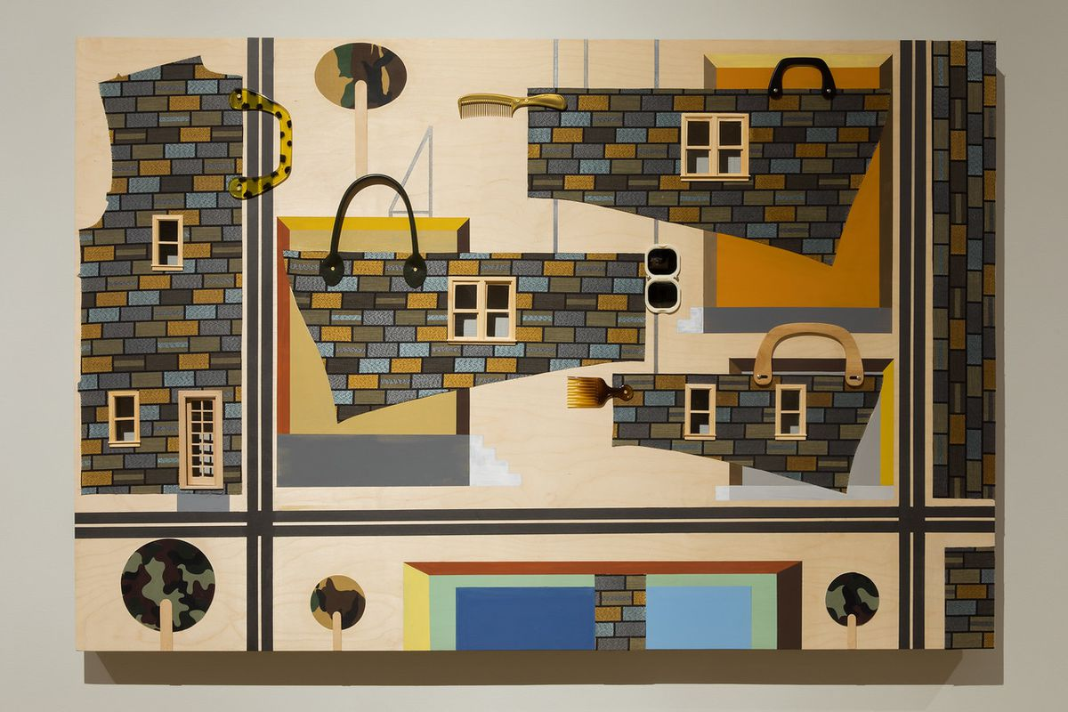Derrick Adams collage for Sanctuary at the Museum of Arts and Design