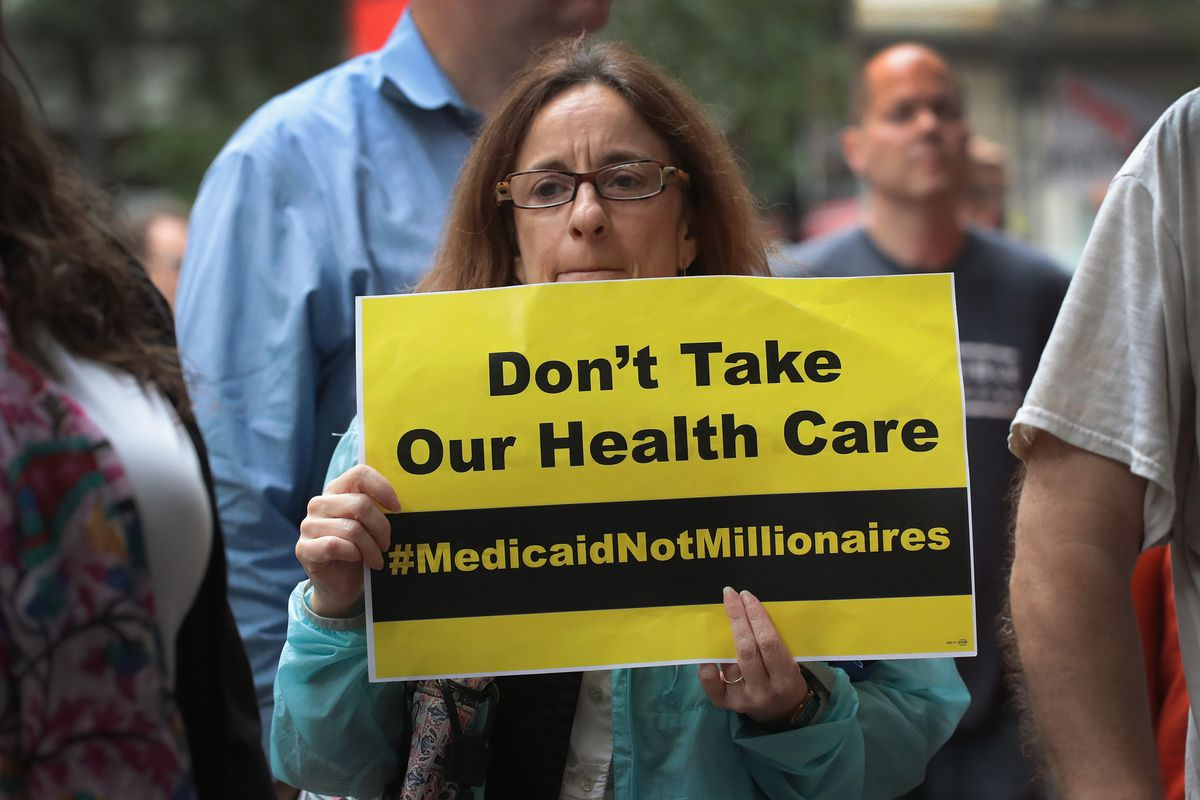 Health Care Activist Groups Demonstrate Against Republican Health Care Plan