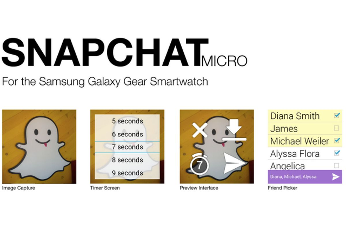 Snapchat shrinks down with app for Samsung's Galaxy Gear