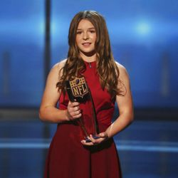 Sam Gordon accepts the Game Changer Award at the 7th Annual NFL Honors at the Cyrus Northrop Memorial Auditorium on Saturday, Feb. 3, 2018, in Minneapolis, Minnesota.