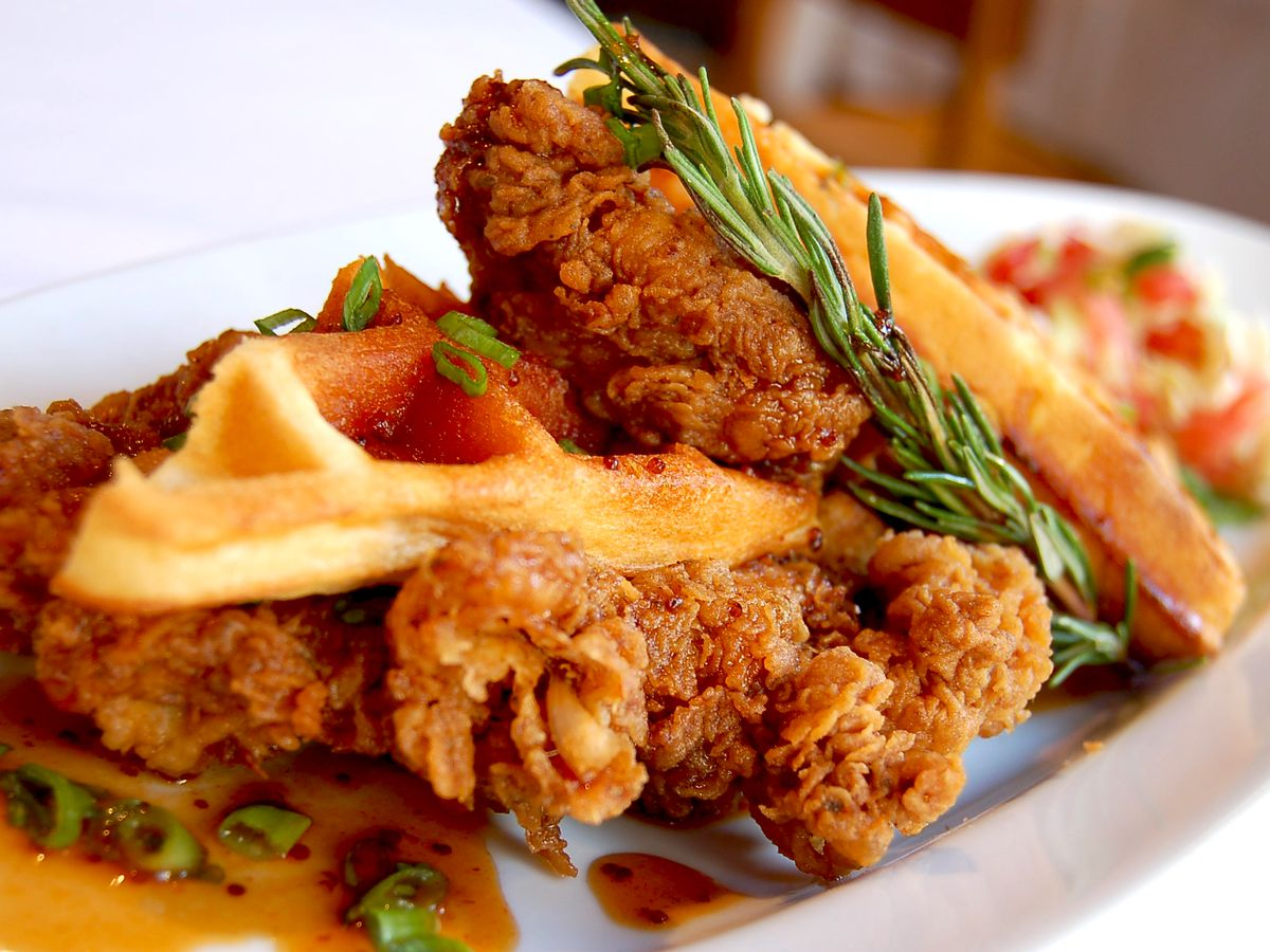 Chicken and Waffles at Emeril's