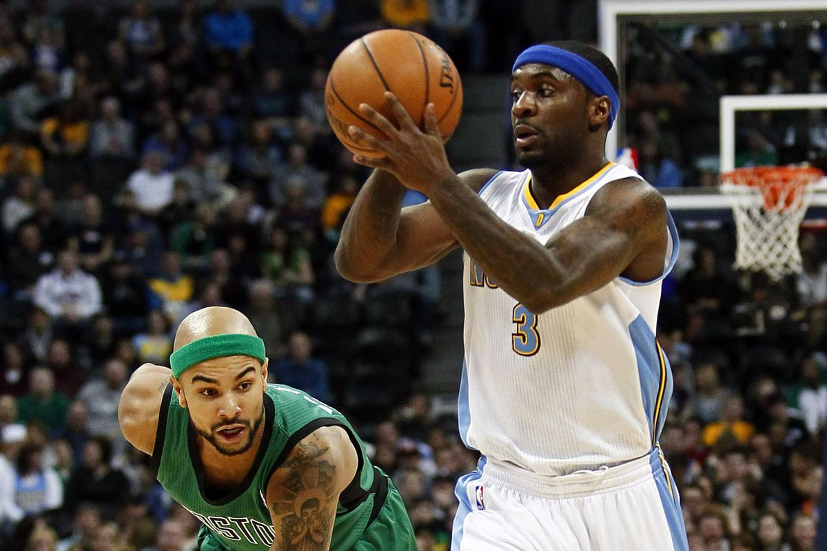 Ty Lawson drives past Jerryd Bayless