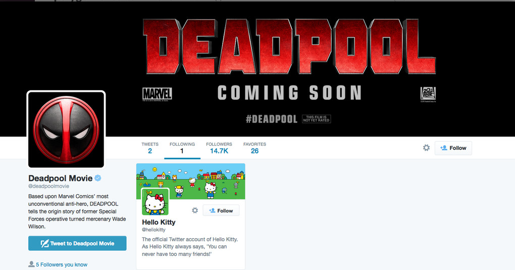 deadpool twitter