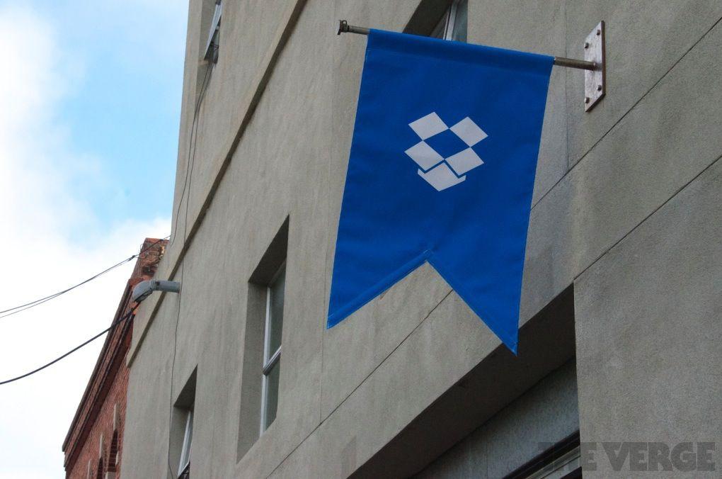 Dropbox logo flag (stock)