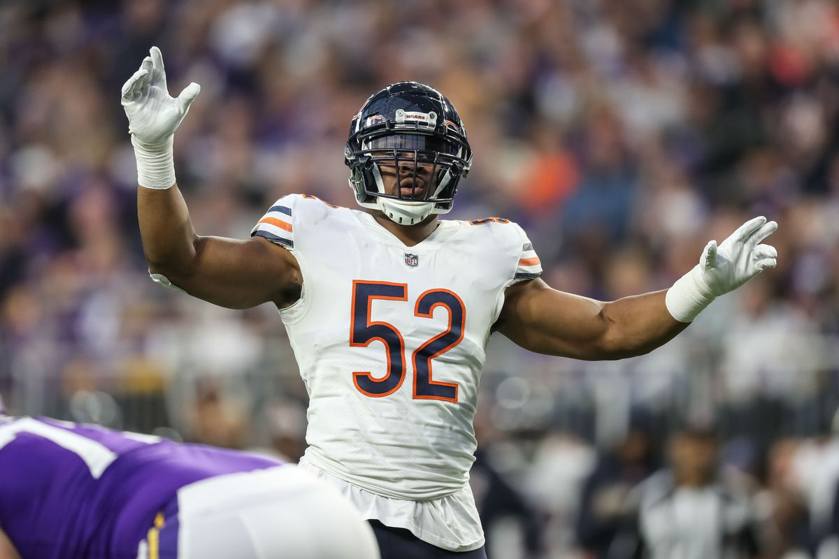 Bears LB Khalil Mack ranked No. 3 on NFL Top 100 list