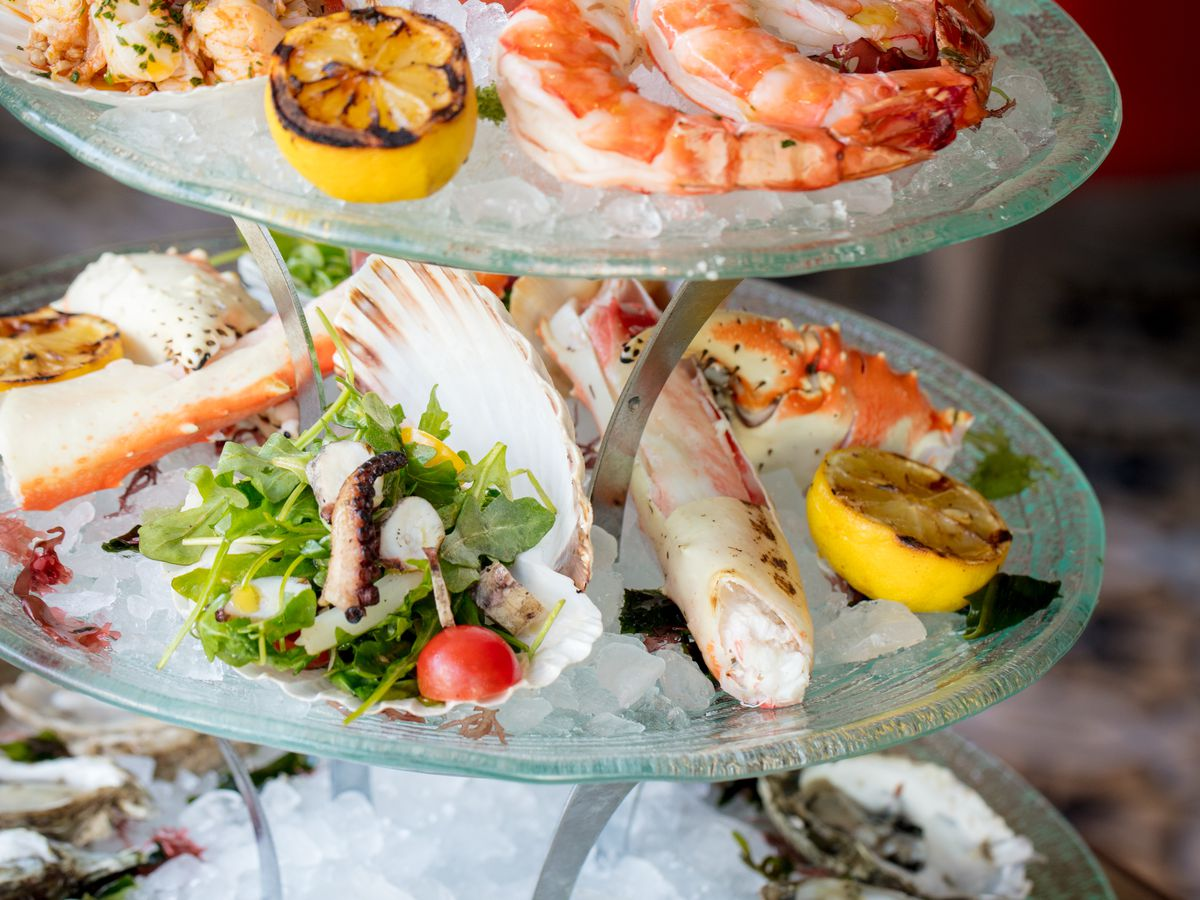 The seafood tower at Giada