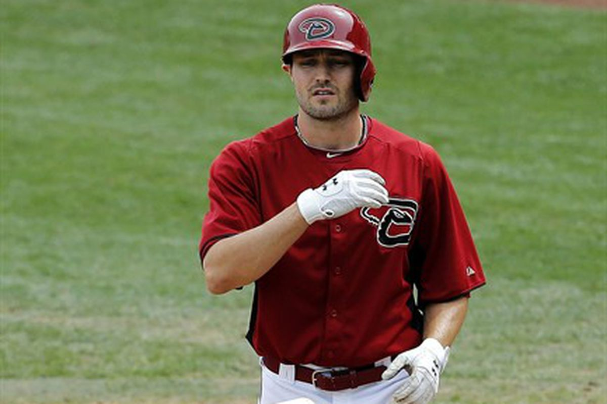 A.J Pollock reacts to another D-back injury.