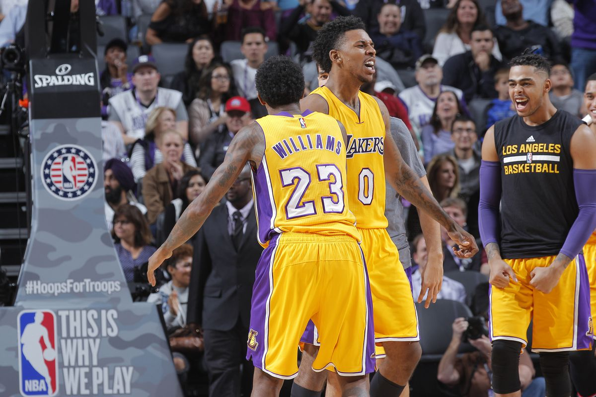 the latest a721c 2ed2e Why the Lakers shouldn't trade Lou Williams and Nick Young ...