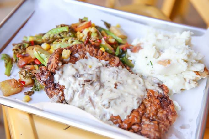 Chicken fried steak at TLC