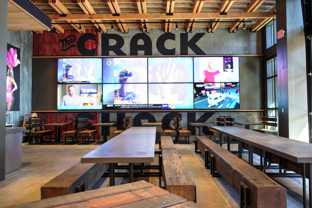 The main dining room at The Crack Shack