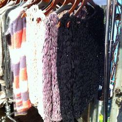 Love these loose knit chiffon sweaters.