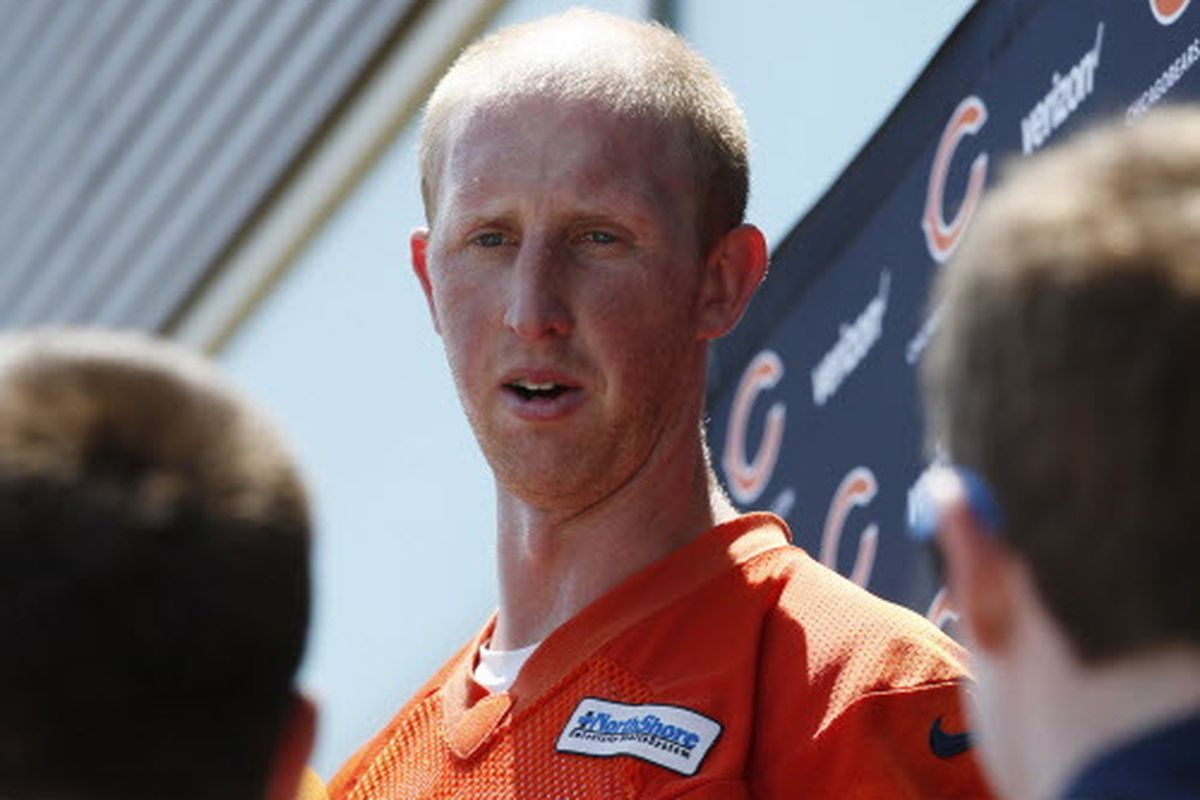 best loved 78b7b 936f6 Bears starter Mike Glennon knows Mitch Trubisky chatter ...