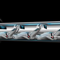 Hyperloop passenger car interior