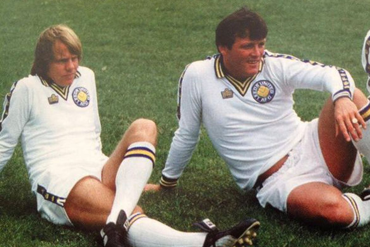 Arthur Graham (L) starred in Anthony Linley's first game at Elland Road.